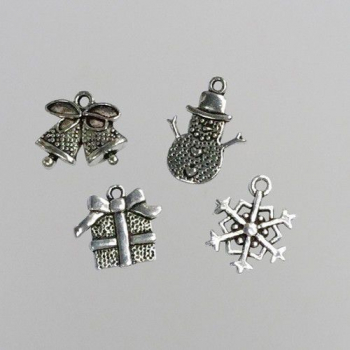 Nellie's Choice Metal Charms Christmas 8 Stück