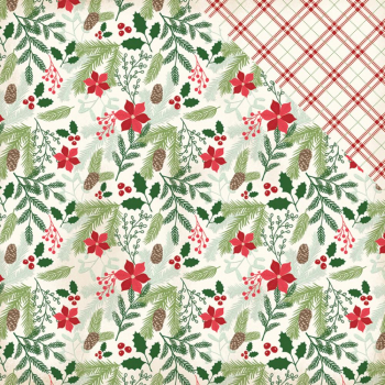 My Mind's Eye Scrapbookingpapier Comfort & Joy Evergreen & Holly 12x12""