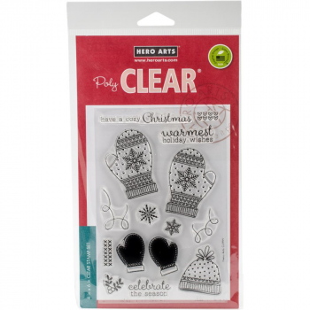 *NEU Hero Arts - Clear Stamps Set Holiday Mittens