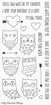 My Favorite Things Clearstempelset I'm Owl Yours Clearstamps