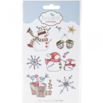 Elizabeth Craft Designs - Clearstempel und Stanzen im Set Combo Snowman & Gifts