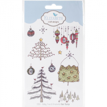 Elizabeth Craft Designs - Clear Stamps Set & Dies Combo Holiday Trees