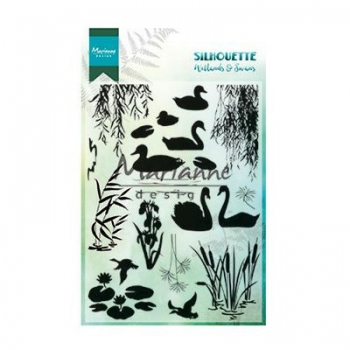 Marianne Design - Clearstempelset Silhouette Wetlands & Swans