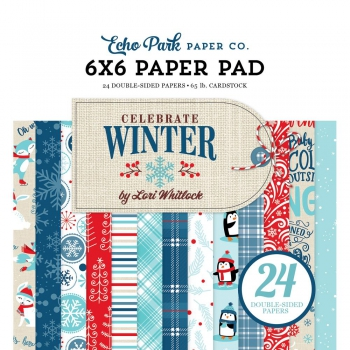 Echo Park Paper - Papierblock Celebrate Winter Paper Pad 6x6""