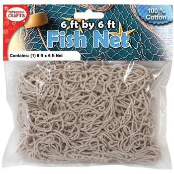 Pepperell - Fischernetz aus Baumwolle Cotton Fish Net 1.8x1.8m