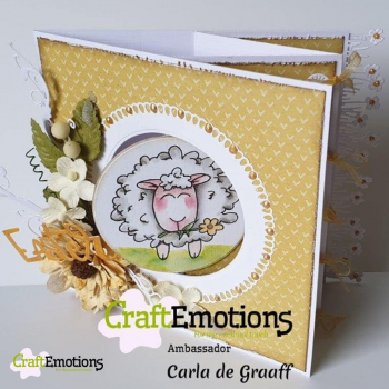 CraftEmotions Clearstempelset Sheep 1 Carla Creaties A6