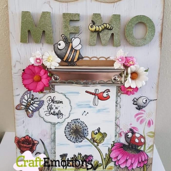 CraftEmotions Clearstempelset A6 Bugs 1 Carla Creaties