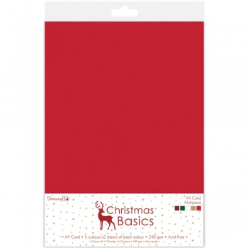 *NEU Dovecraft - Christmas Basics A4 Card Multipack