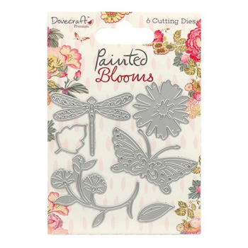 Dovecraft - Stanzschablonenset Painted Blooms Dies