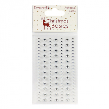 Dovecraft - Christmas Basics Clear Adhesive Gems