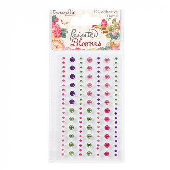 Dovecraft - Halbperlen Painted Blooms Adhesive Gems