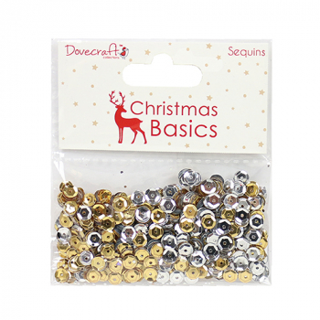 Dovecraft - Christmas Basics Sequins Gold & Silver