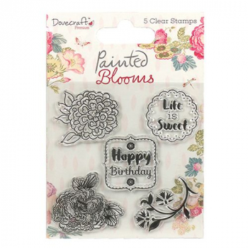 Dovecraft - Clearstempelset Painted Blooms