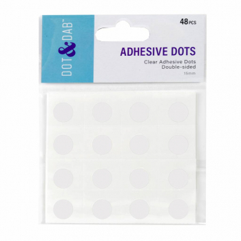 Dot & Dab Klebepunkte 1.5cm Clear Adhesive Dots Double-sided
