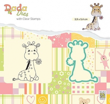 Nellie's Choice Clearstempel und Stanzschablone Cute Giraffe