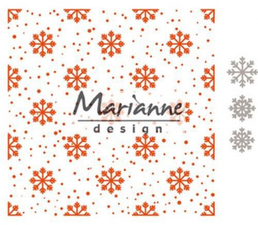 Marianne Design Stanzschablone plus Prägeschablone Snow and Ice Crystals