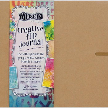 "Dylusions - Journal Dyan Reaveley's Dylusions Creative Flip Journal Kraft 12.0""X8.5"""