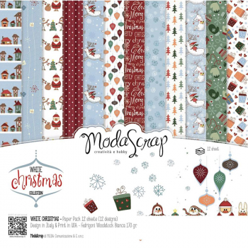 Elizabeth Craft Designs - ModaScrap White Christmas Paper Pack 6x6""
