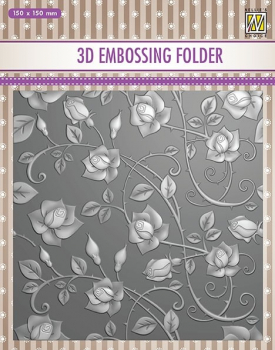 Nellie's Choice Prägeschablone Roses Embossing Folder