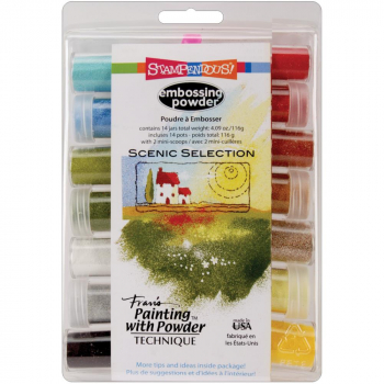 Stampendous - Embossingpulver Scenic Selection Set of 14 Embossing Powders