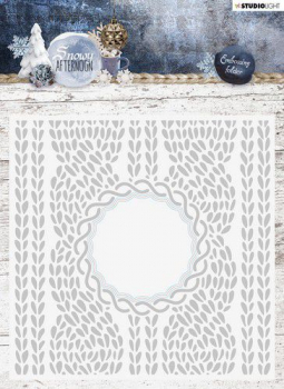 Studio Light Prägeschablone mit Stanze Embossing Folder With Die Cut Snowy Afternoon Nr. 01