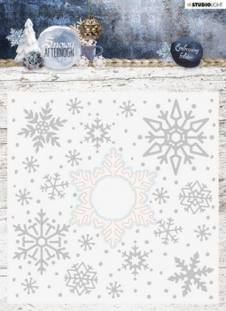 Studio Light Prägeschablone mit Stanze Embossing Folder With Die Cut Snowy Afternoon Nr. 02