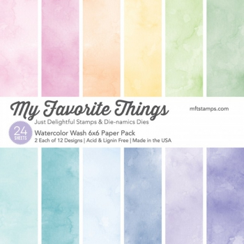 My Favorite Things - Scrapbooking Papierblock Watercolor Wash Paper Pack 6x6""