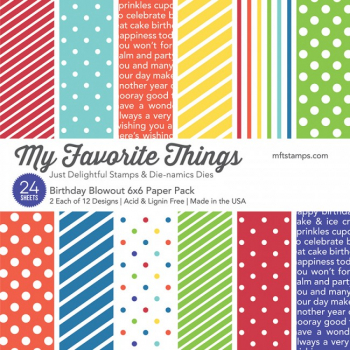 "My Favorite Things - Scrapbooking Papierblock Birthday Blowout Paper Pack 6x6"" 24 Blatt"