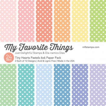 My Favorite Things - Tiny Hearts Pastels Paper Pack 6x6""