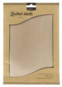 Studio Light Kunstleder Antique Bronze Leather Sheets A4 2 Stück