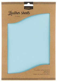 Studio Light Kunstleder Baby Blue Leather Sheets A4 2 Stück