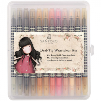 Docrafts - Aquarellstifte Santoro Gorjuss Dual-Tip Watercolour Pens Neutrals 12 Stück