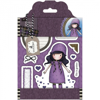 Docrafts - Santoro Gorjuss Tweed Rubber Stamps Rainy Daze