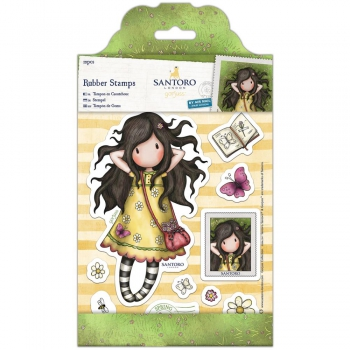 Docrafts - Santoro Gorjuss Rubber Stamps Spring At Last