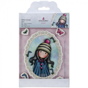 Docrafts - Clingstempelset Santoro Gorjuss Pom Pom Rubber Stamp