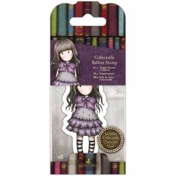 Docrafts - Santoro Gorjuss Mini Rubber Stamp Little Violet