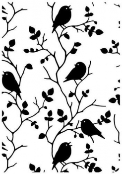 Nellie's Choice Prägeschablone Tree with Birds Embossing Folder