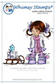 Whimsy Stamps - Clingstempel Heidi with Sledge