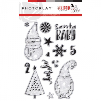 Photoplay Paper - Clearstempelset und passende Stanzen Combo Ho Ho Ho Kringle & Co.