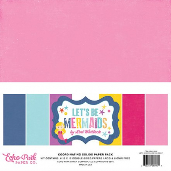 Echo Park Paper - Papierkit Let's Be Mermaids Solids Paper Pack 12x12""