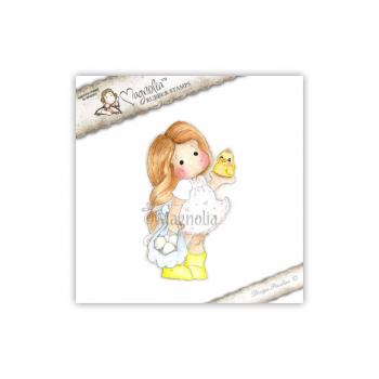 Magnolia - Little Easter Collection Cling Stamp Tilda with Egg and Chicken