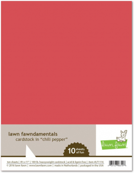 Lawn Fawn - Cardstock Chili Pepper 8.5x11.0""