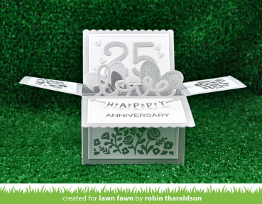 Lawn Fawn - Stanzschablone Scalloped Box Card pop-up Die