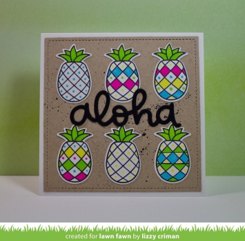 Lawn Fawn - Clearstempel Set Pineapple Aloha