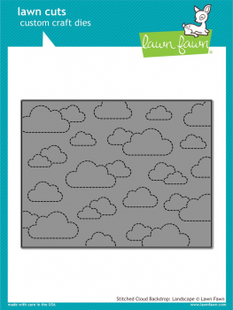 Lawn Fawn - Stanzschablone Stitched Cloud Backdrop Dies