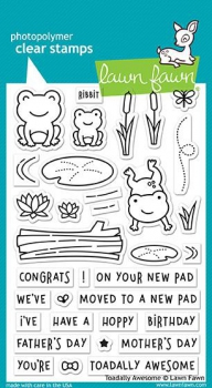 Lawn Fawn - Clearstamps Set Toadally Awesome - PRE-ORDER (ab 22.02.2018)