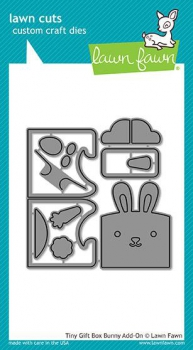 Lawn Fawn - Stanzschablonen Set Tiny Gift Box bunny add-on Dies - PRE-ORDER (ab 22.02.2018)