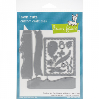 Lawn Fawn - Stanzschablonenset Shadow Box Card Ocean Dies