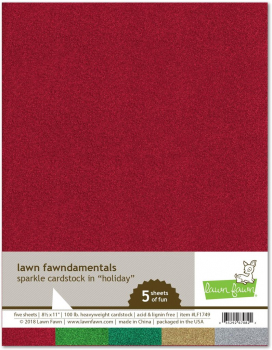 Lawn Fawn - Sparkle Cardstock Holiday 8.5x11""
