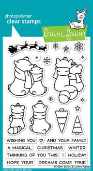 Lawn Fawn - Clearstempel und Stanzen Winter Skies